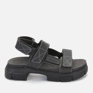 Ganni Women's Sustainable Rubber Sandals - Black