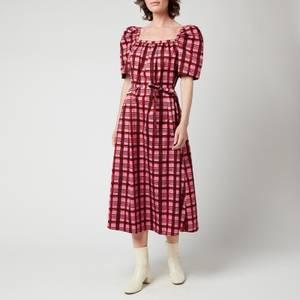Baum Und Pferdgarten Women's Aiko Dress - Pink Plaid