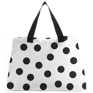 Monochrome Polka Dots Tote Bag