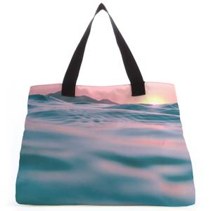 Sunset With Water Tote Bag