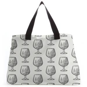 Whisky Glass Pattern Tote Bag