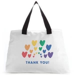 Thank You Rainbow Hearts Tote Bag