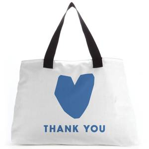 Blue Heart Thank You Tote Bag