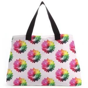 Fluro Flower Pattern Light Tote Bag