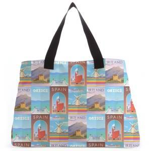 Travelling Around Europe Tote Bag