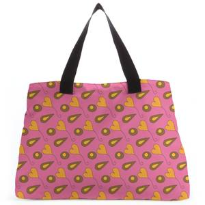 Retro Hearts And Leaves Tote Bag