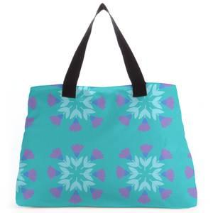 Retro Flower Circles Tote Bag