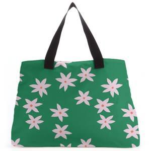 Retro Pressed Flowers Tote Bag