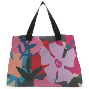 Giant Retro Flowers Tote Bag