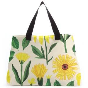 Retro Mellow Flowers Tote Bag