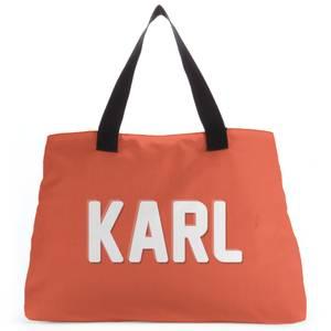 Embossed Karl Tote Bag