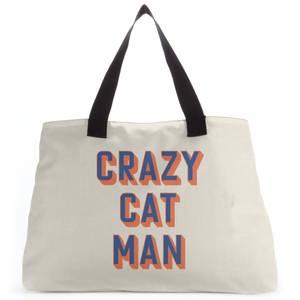 Crazy Cat Man Tote Bag