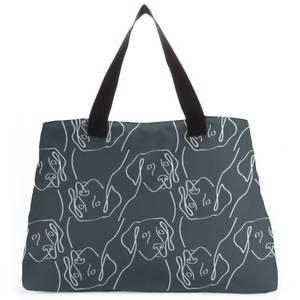 Abstract Dog Pattern Tote Bag