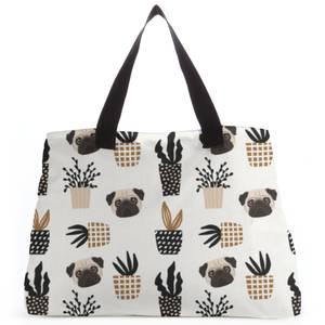 Pug & Cactus Tote Bag