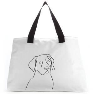 Line Drawing Dog Tote Bag