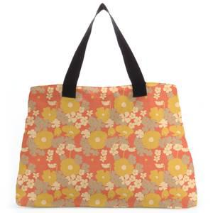 60s Orange Floral Tote Bag