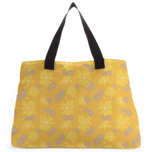 Yellow 60s Flower Tote Bag