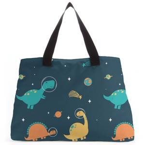 Space Dino Pattern Tote Bag