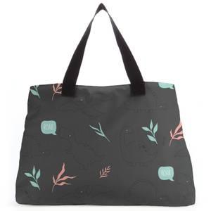 Pastel Dino Pattern Tote Bag