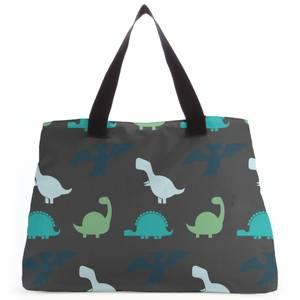 Dino Silhouette Pattern Tote Bag