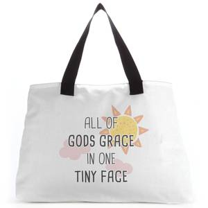 All Of Gods Grace In One Tiny Face Tote Bag