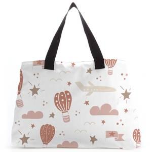 Earth Toned Kids Pattern Tote Bag