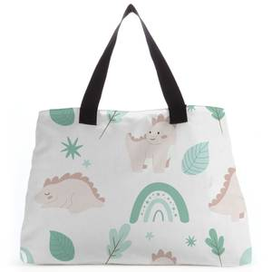 Dusty Pink Dino Tote Bag