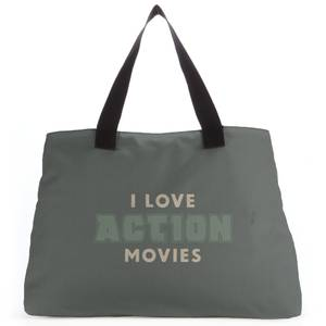 I Love Action Movies Tote Bag