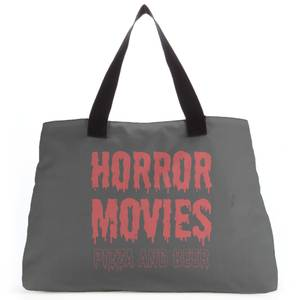 Horror Movie Pizza And Beer Tote Bag