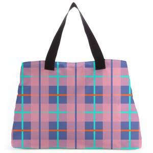 Modern Tartan Tote Bag