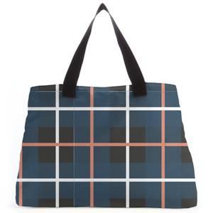 Deep Tartan Tote Bag