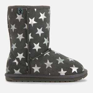 EMU Australia Kids' Starry Night Leather Boots - Charcoal