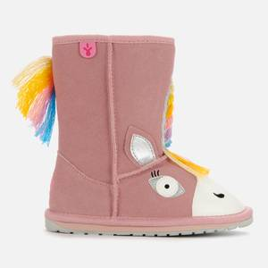EMU Australia Kids' Little Creatures Magical Unicorn Boots - Pale Pink