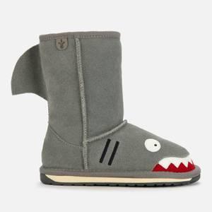 EMU Australia Kids' Little Creatures Shark Boots - Putty