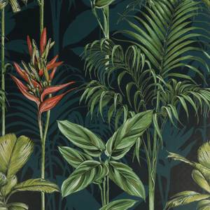 House Beautiful Paradise Tropics Teal Wallpaper