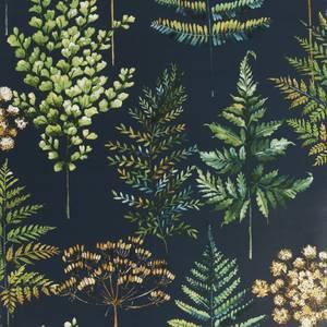 House Beautiful Botanical Bliss Navy Wallpaper