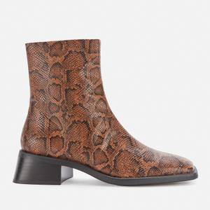 Vagabond Women's Blanca Embossed Leather Ankle Boots - Harvest/Black