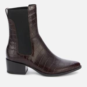 Vagabond Women's Marja Embossed Leather Western Boots - Brown