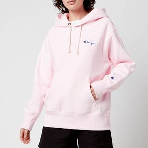 Champion Women's Small Script Hooded Sweatshirt - Light Pink