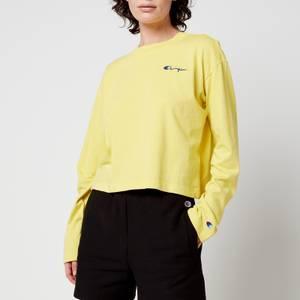 Champion Women's Long Sleeve T-Shirt - Yellow