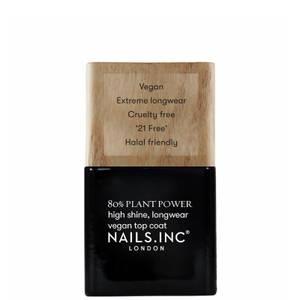 nails inc. Plant Power Nail Varnish Top Coat 14ml