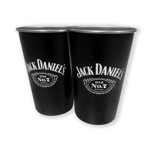 Jack Daniel's Stainless Steel Cups (Pack of 2)