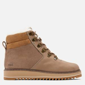 TOMS Women's Mojave Water Proof Nubuck Hiking Style Boots - Taupe