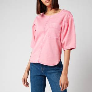 See By Chloé Women's Dyed Denim Top - Juicy Pink