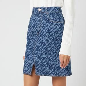 See by Chloé Women's Signature Denim Skirt - Deep Ocean