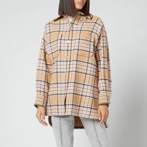 See by Chloé Women's Check Wool Coat - Beige