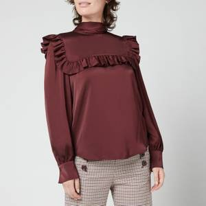 See By Chloé Women's Washed Satin Blouse - Brown