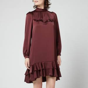 See By Chloé Women's Washed Satin Dress - Brown