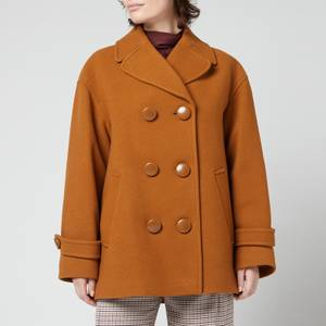See By Chloe Women's Wool Blend Coat - Forest Brown