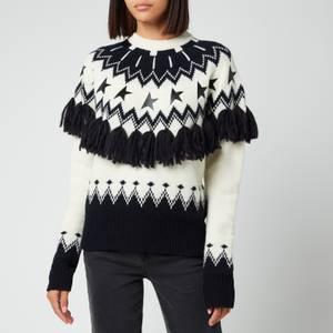 Golden Goose Women's Deidra Wool Patchwork Jacquard Sweater - Multi